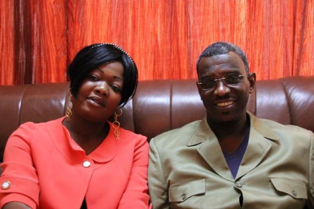 Nadifa Narebaye et l´actuel Maire de N´DJaména, M. Damane