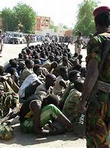 Forces rebelles fait prisoniers de guerre à N´Djaména. Image DR